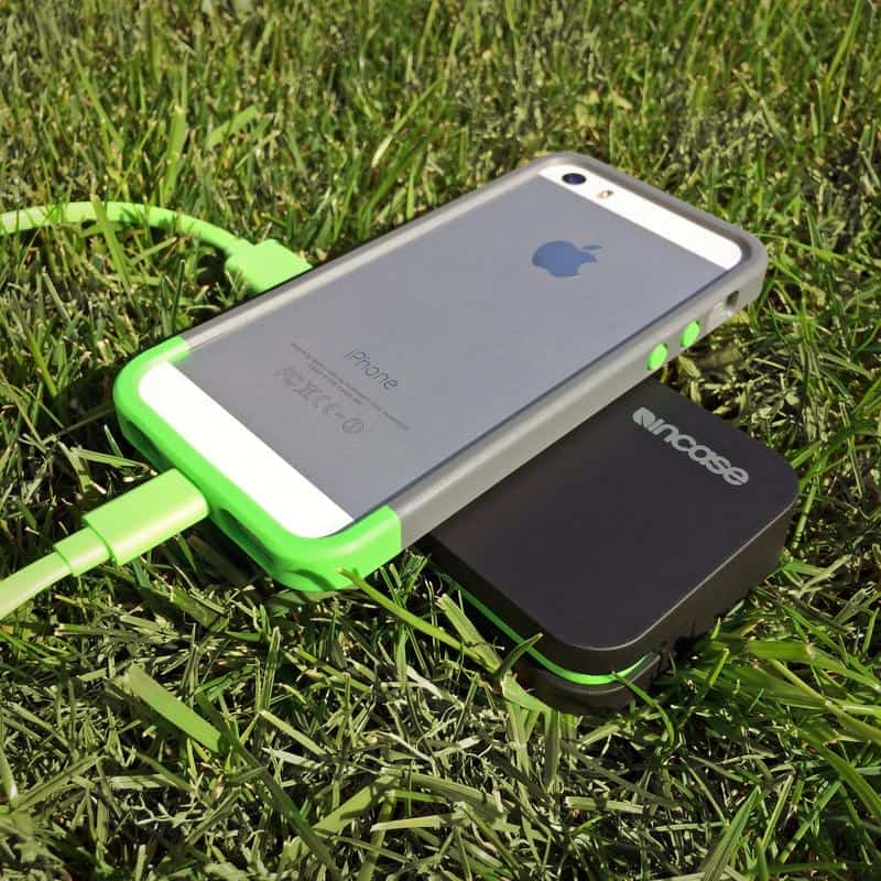 iPhone 5S with case