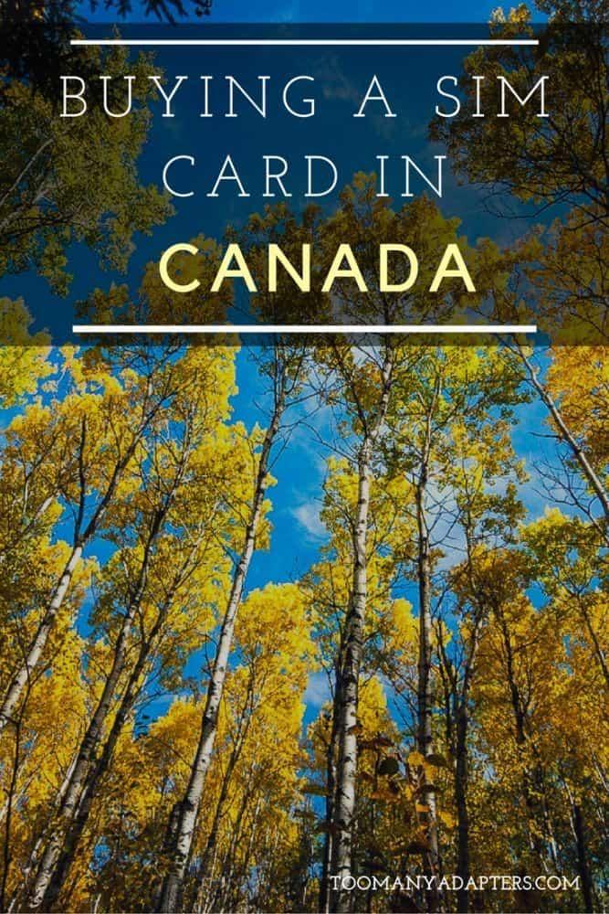 Buying a SIM Card in Canada