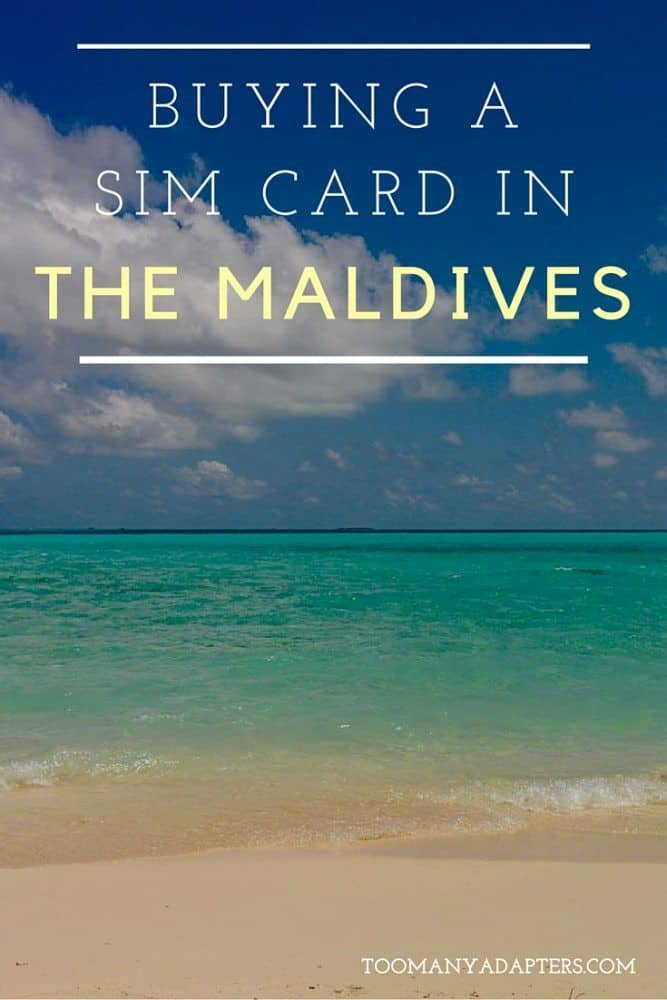 Buying a SIM card in the Maldives