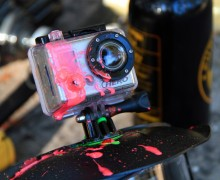 GoPro with paint