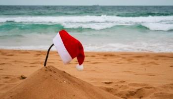Beach Santa hat