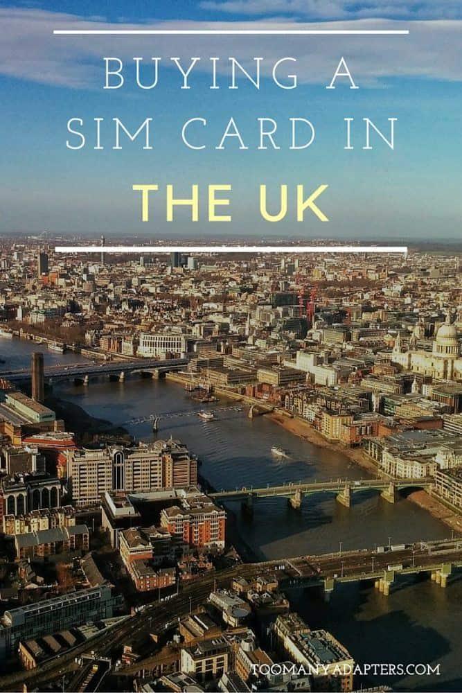 Buying a SIM card in the United Kingdom