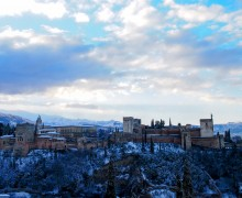Alhambra with snow