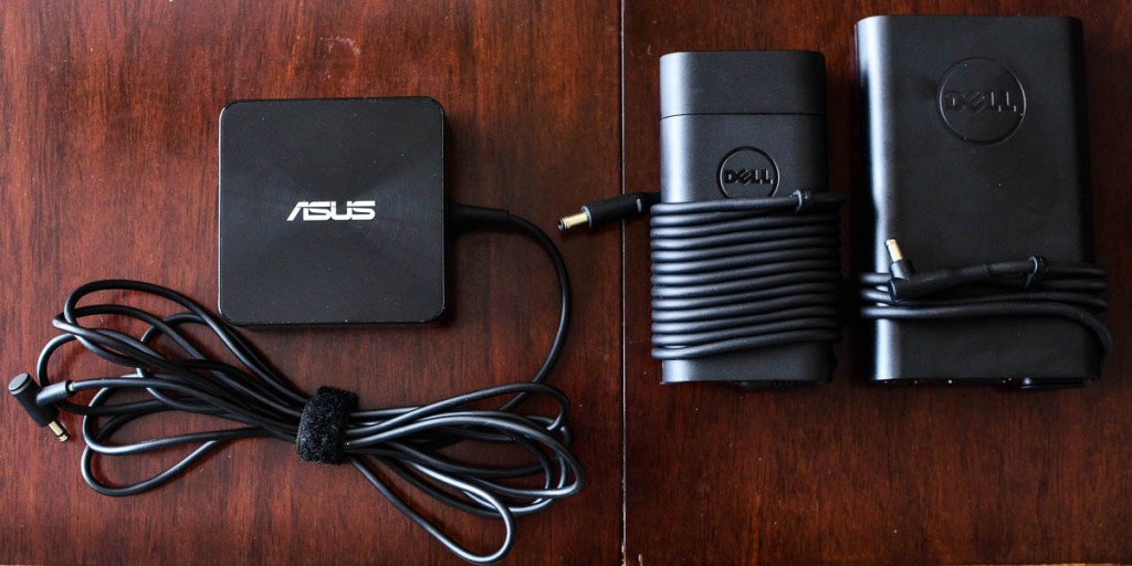 Who knew that power adapter design could make such a difference. (Asus - Dell XPS - Dell Power Companion)