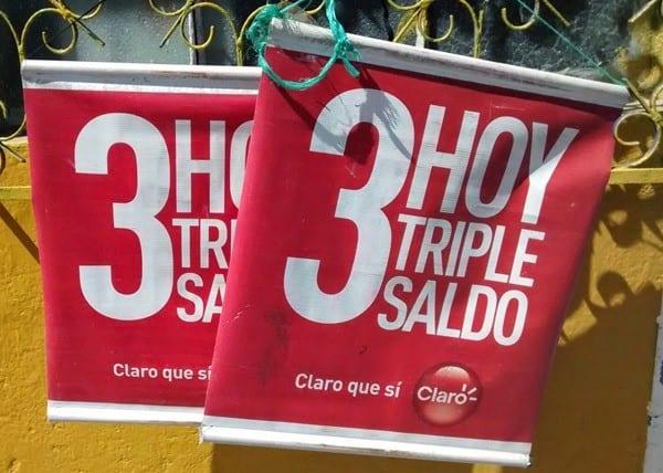 Triple saldo sign