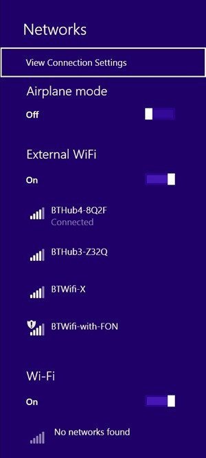 Two wireless networks