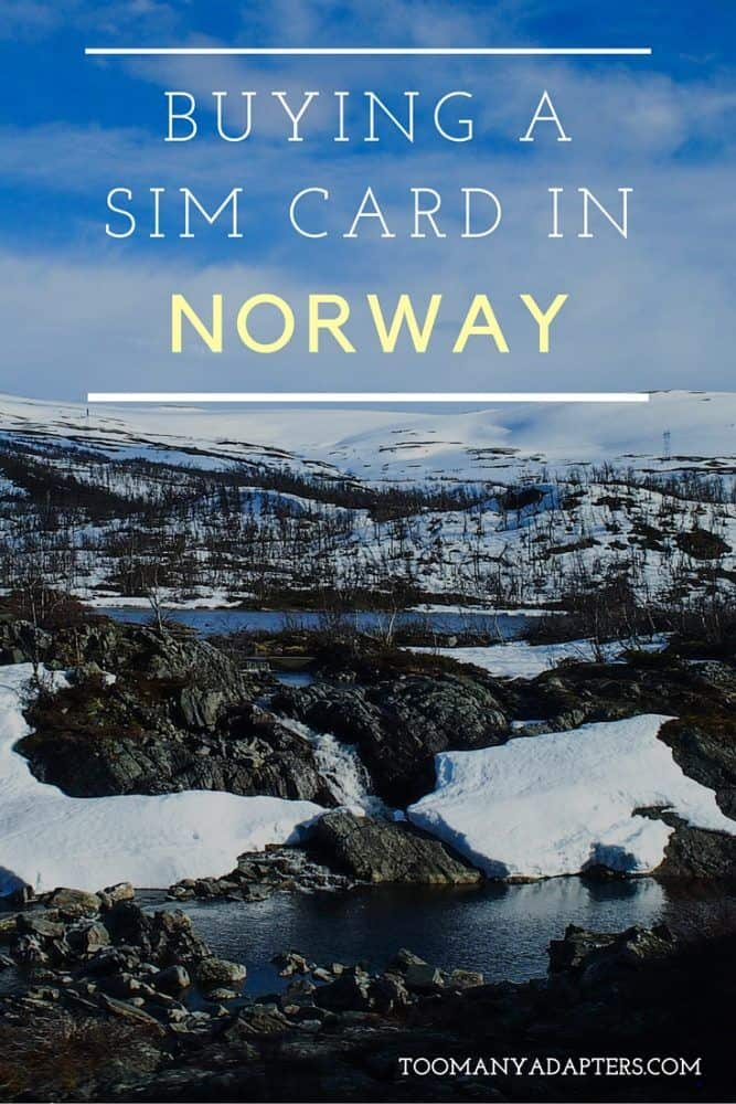 Buying a SIM card in Norway