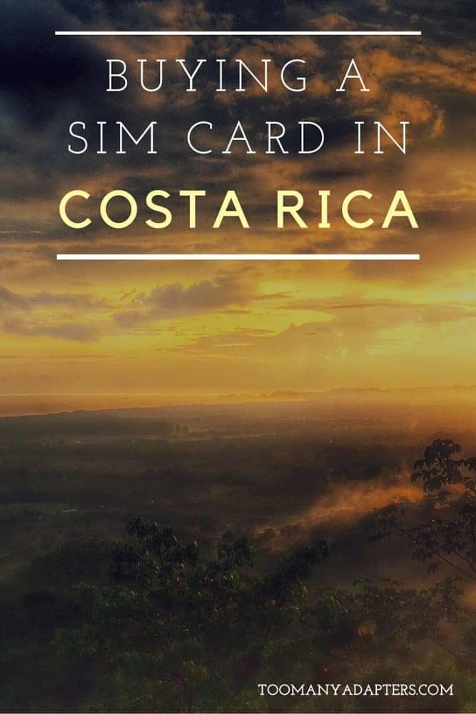 Buying a SIM card in Costa RIca