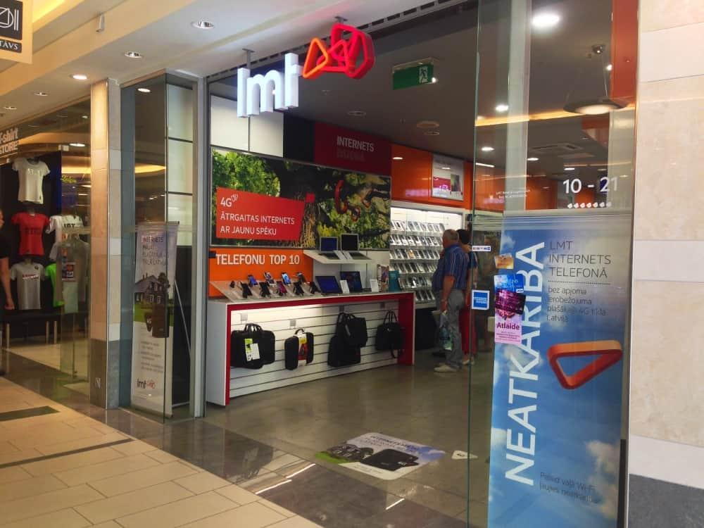 LMT store in Riga