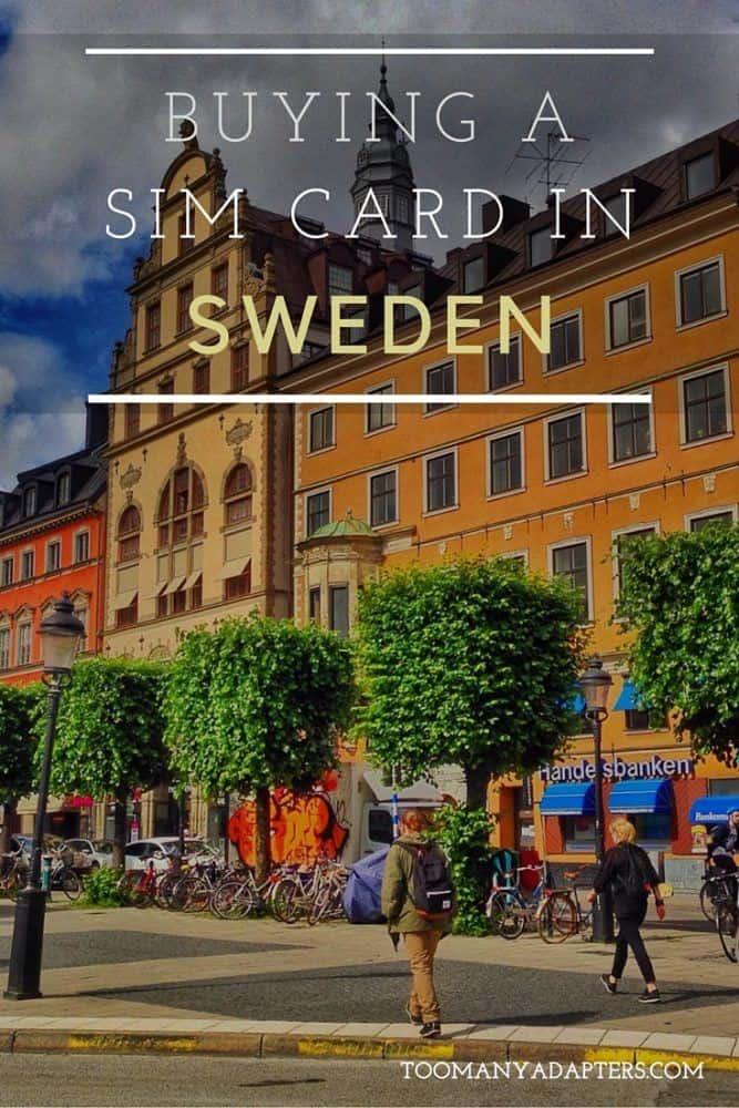 Buying a SIM card in Sweden