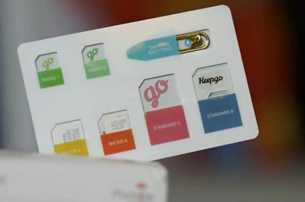 The very slick KeepGo SIM card case has spots for Micro, Nano, and standard SIM cards.