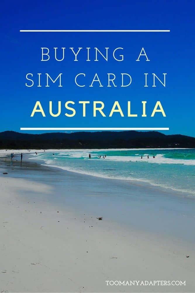 Buying a SIM card in Australia