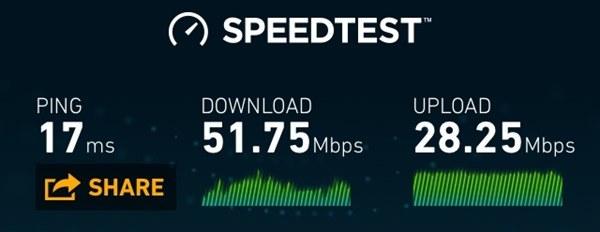 Skinny LTE speeds