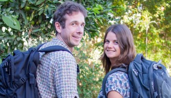 Erin and Simon, backpacks, featured image
