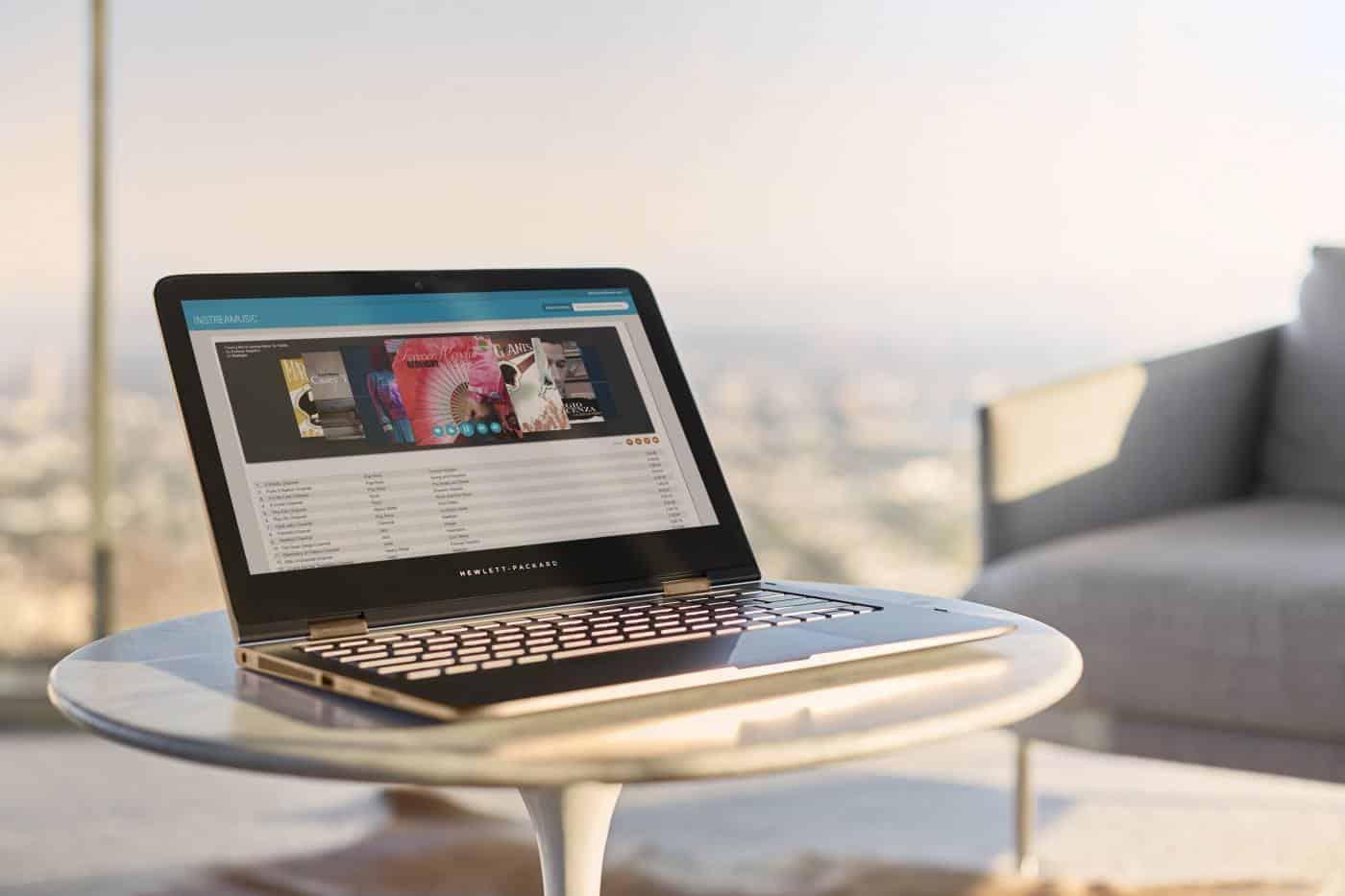 HP Spectre x360 laptop mode