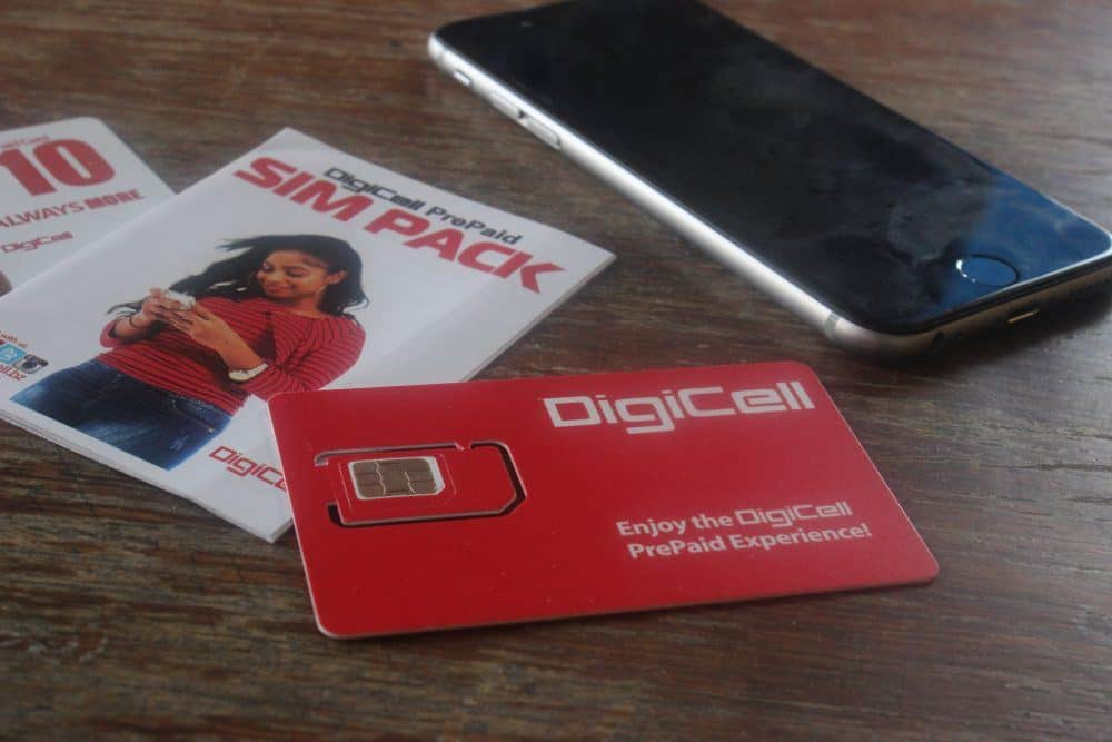 DigiCell SIM Card Belize