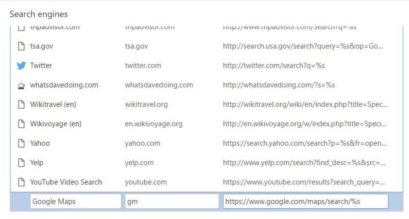 Google Maps - search engine