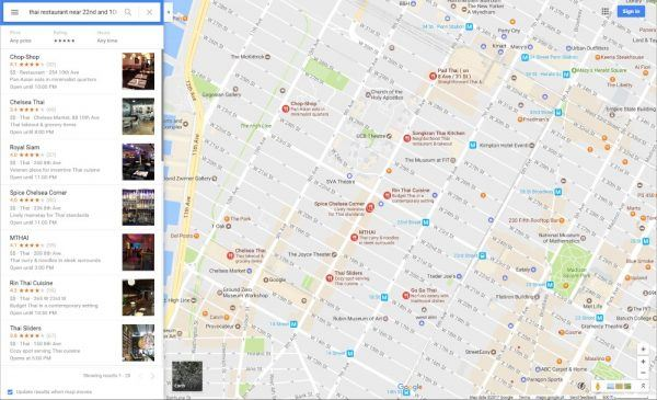 Google maps - nearby