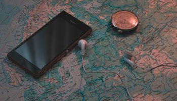 Smartphone and map