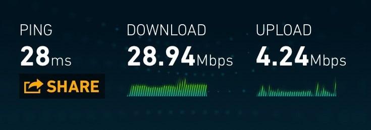 Proximus 3G speeds in Belgium