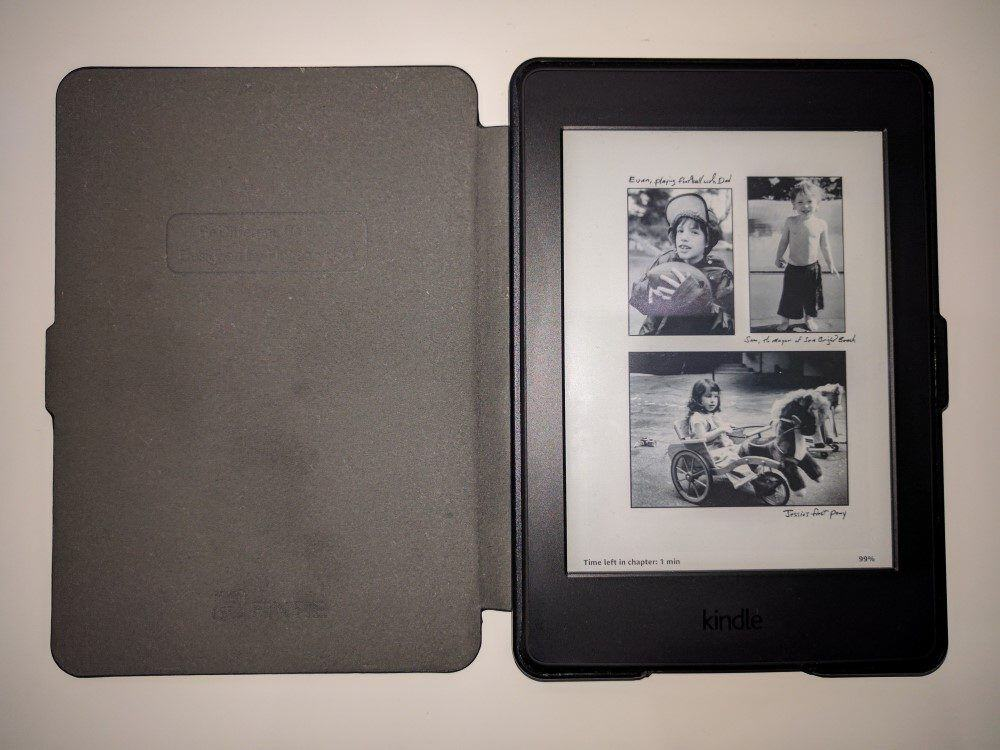 Kindle Paperwhite in case