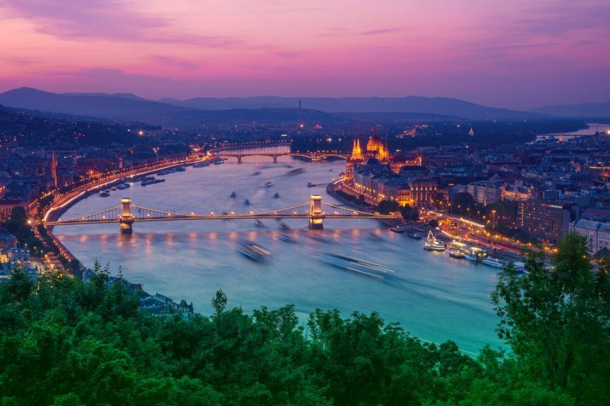 Budapest skies and river