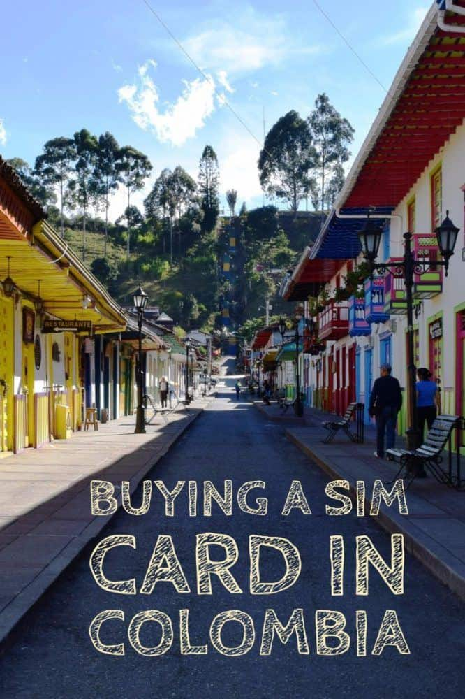 Buying a SIM Card in Colombia