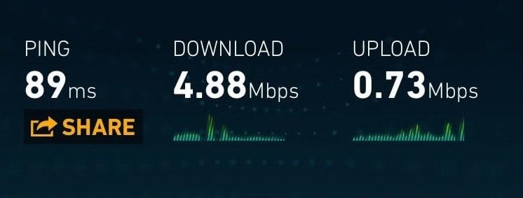 Claro 3G speed in Cartagena