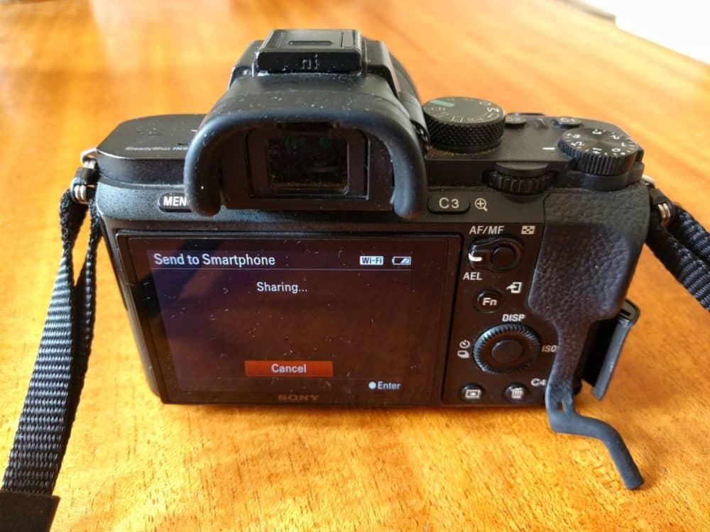 Sony camera Wi-fi sharing