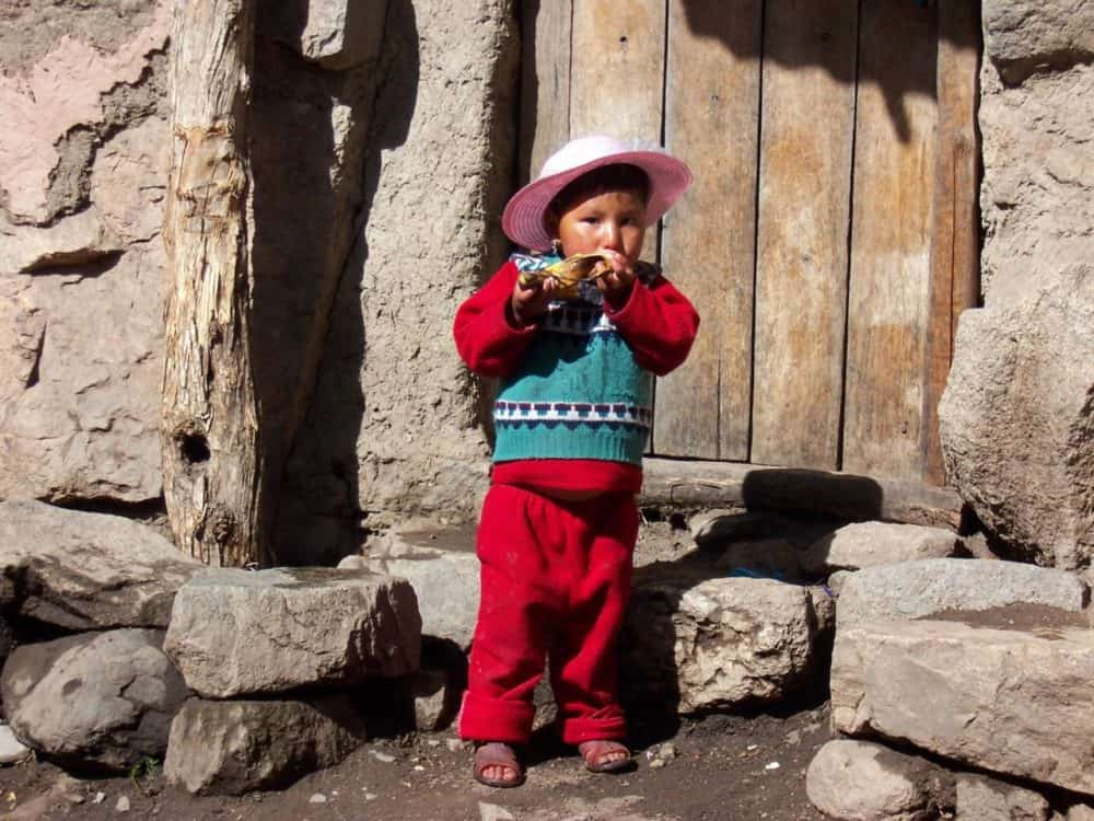 Little boy in Inca Trail
