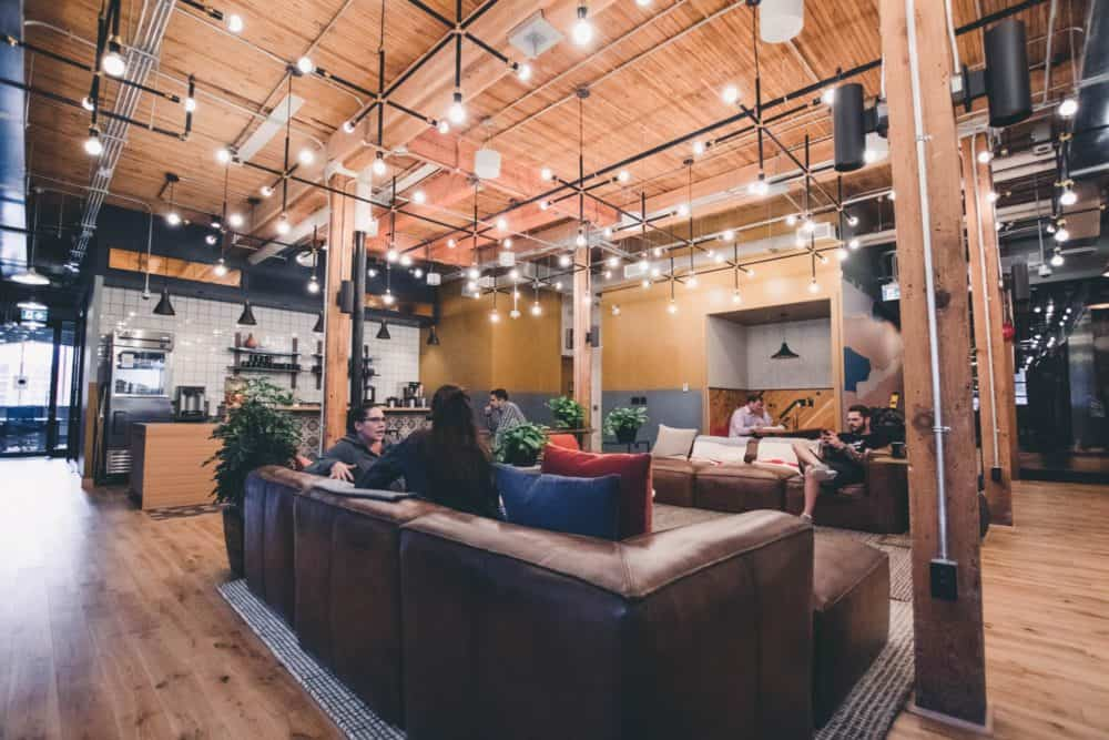 Working remotely - co-working space