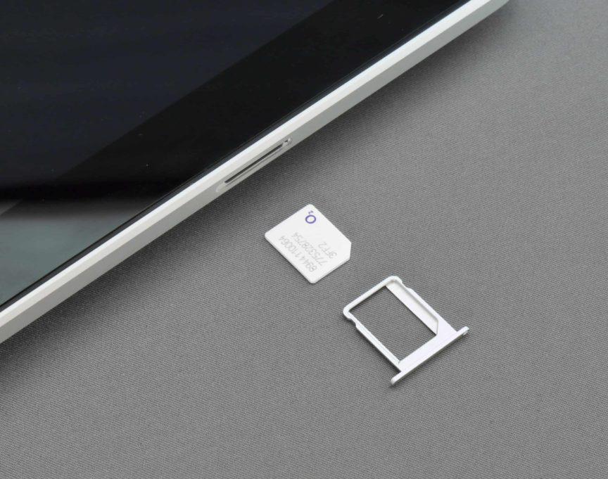 SIM card and SIM tray