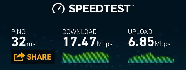 Econet LTE speeds in Zimbabwe