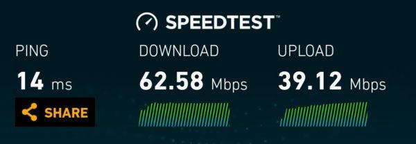 Optus LTE speeds in central Melbourne