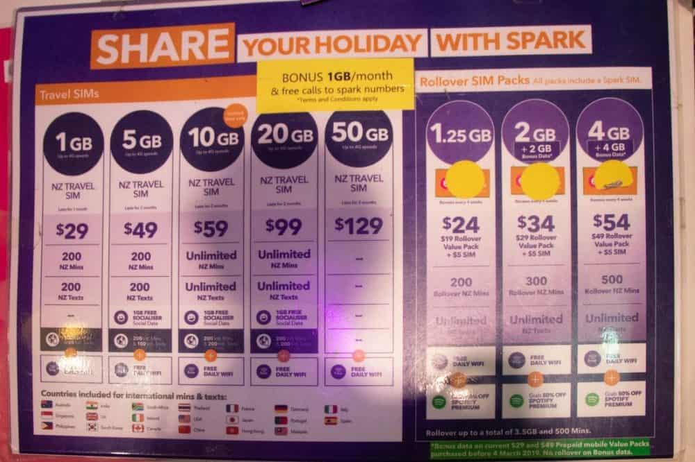 Spark pricing Feb 2019