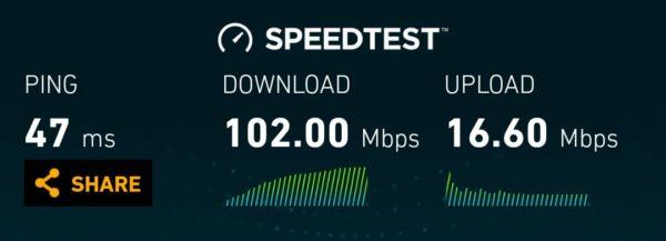 Vodafone LTE speeds in New Zealand