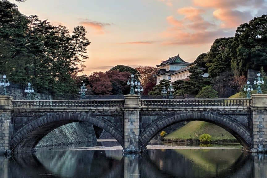 Imperial Palace stone bridge, Tokyo