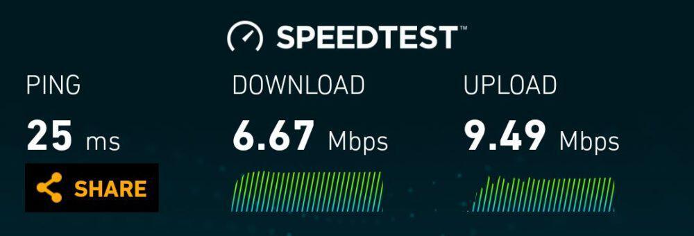 AIS LTE speeds in central Bangkok