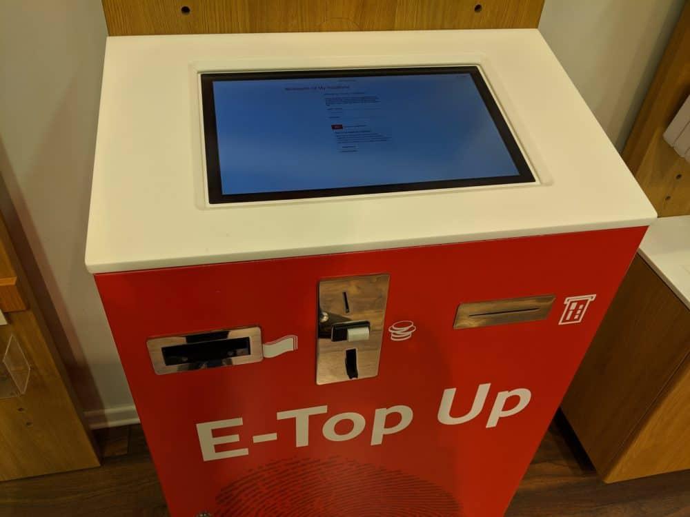 Albania Vodafone topup machine