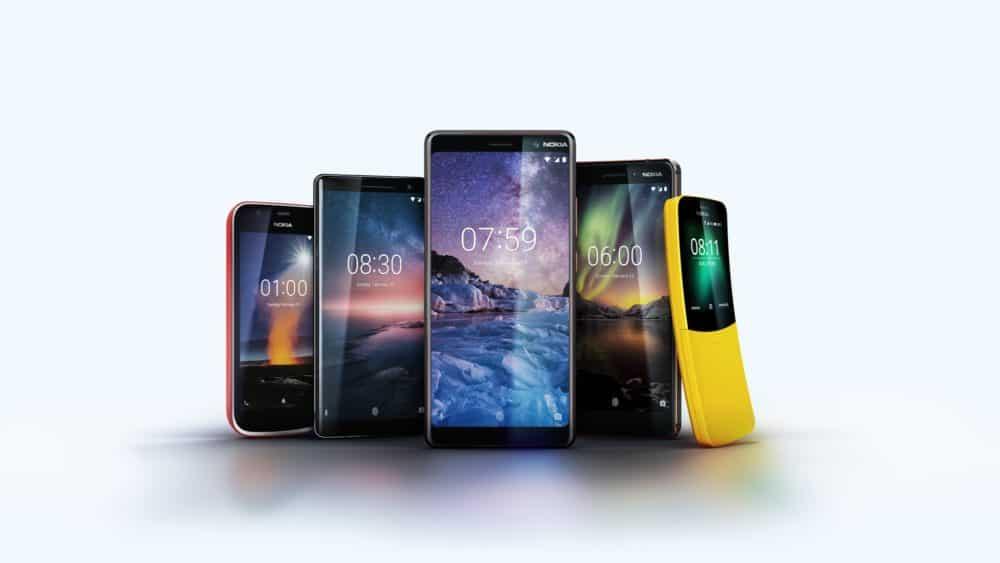 Nokia range 2018