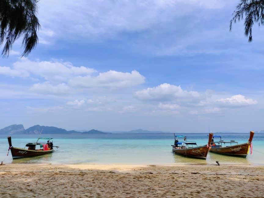 Three longtails, Thailand