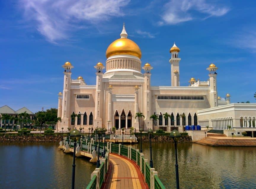 White mosque in Brunei