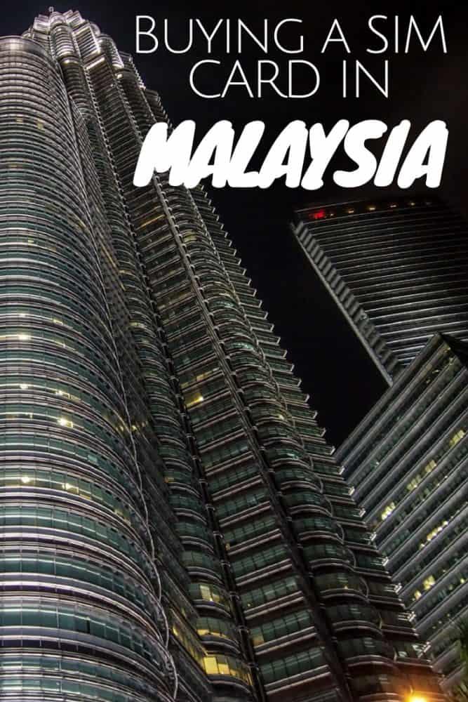 Buying a SIM card in Malaysia