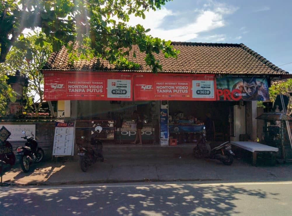 Cell phone store in Canggu Bali
