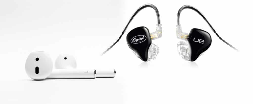 Airpods and UE in-ear monitors