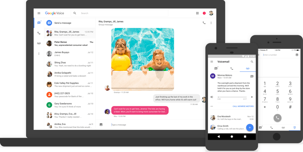 Google Voice on multiple devices