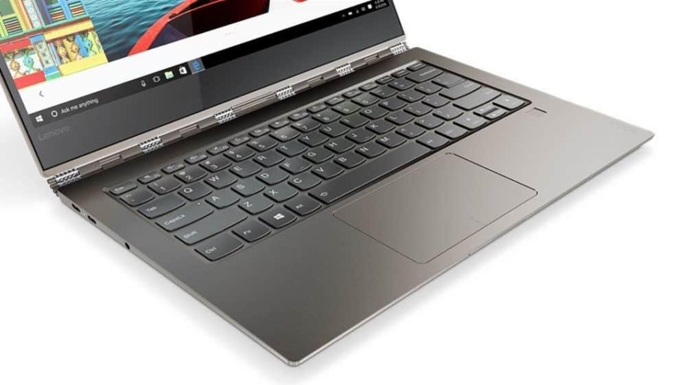 Lenovo Yoga 920 showing hinges