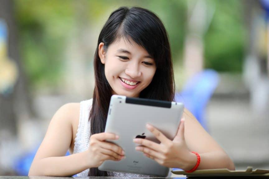 Girl on iPad