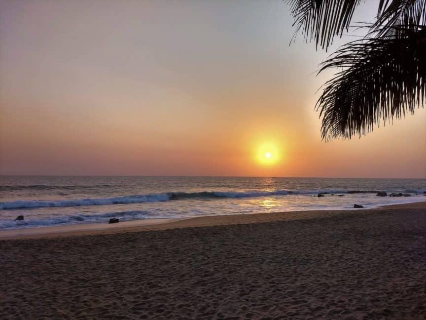 Liberia beach at sunset