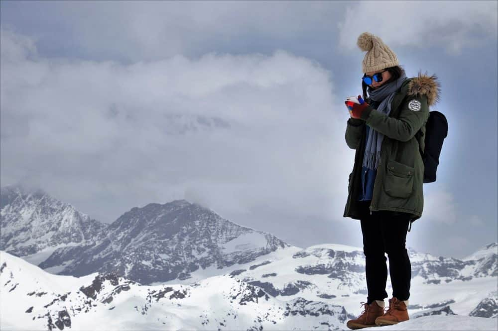 Smartphone in the Alps